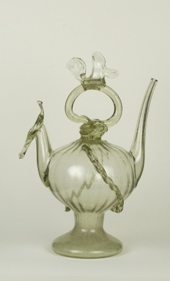 Spanish glass cantir from Catalonia