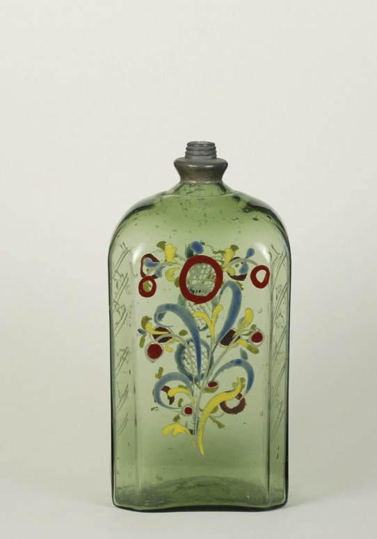 German Enameled Flask