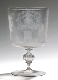 Royal Oak Goblet England 1663