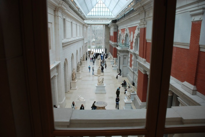 A courtyard in the Met