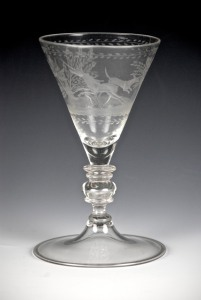 43E Bohemian Wine Glass with Merese and Knop C. 1690