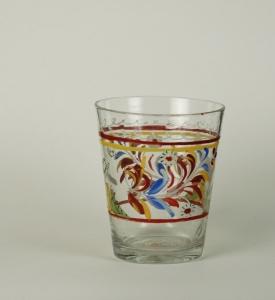 33E Colorless Enamelled Beaker 18th Century