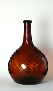 12A Dark amber swirl bottle