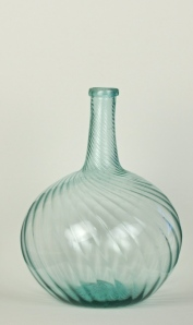 15A Aquamarine swirl bottle