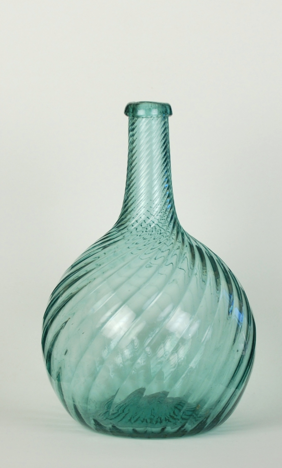 Green Glass Jug With Plastic