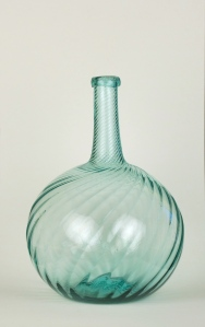 64A Aquamarine swirl bottle