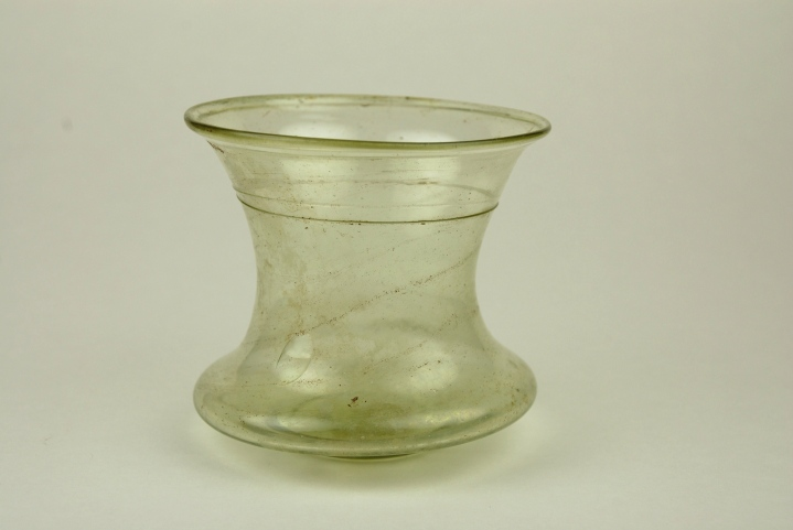 85E Roman or Merovingian Glass Bell Beaker 1st to 6th Century
