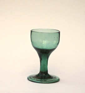 96E English or American light green wineglass c.1820