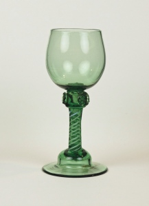97E-A Green stem with white opaque twist c.1765