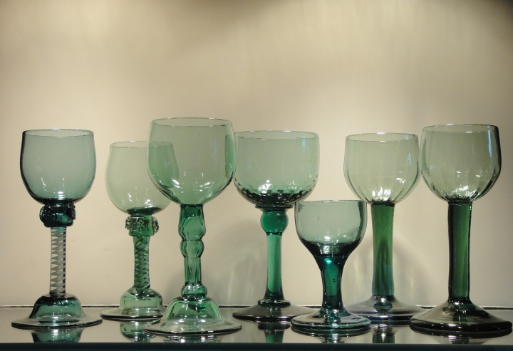 English green wines in Allaire Glass Collection