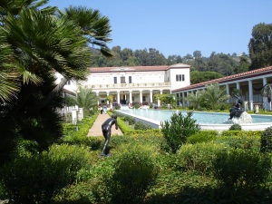 Getty Villa from courtyard
