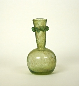 11R Roman Bottle with Neck Ruffle 5-6th Century