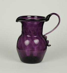 88E Small English amethyst pitcher c. 1780