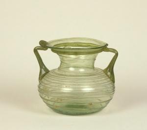 45R Green Trailed Jar 3-4th century