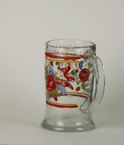 78E Colorless Enameled Tankard 18th Century