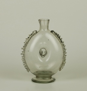 103E Bottle with Pinched Center C. 1750