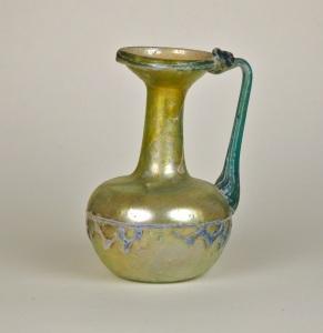 23R Roman zig-zag glass pitcher 4th Century