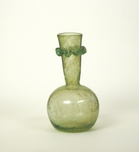 11R Late Roman bottle with neck ruffle 5-6th C