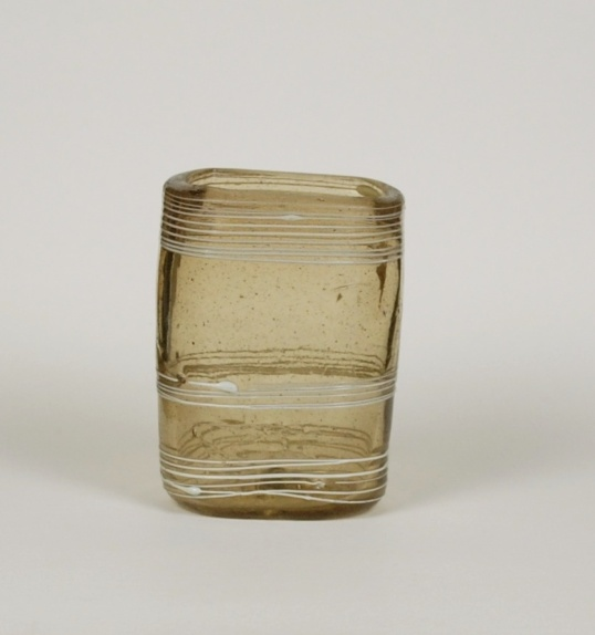 30E Small Glass Pocket Tumbler with White Trailing