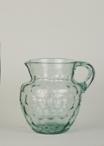 01A Hollow handle on American honey comb pattern  Pitcher 19thC