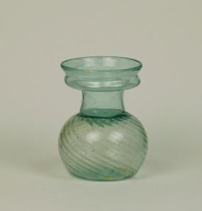 28R Swirled Roman glass sprinkler flask 4th Century