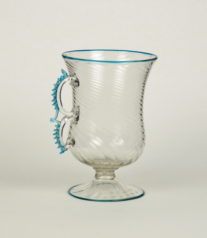 75E Double handle with pincered decoration. Salviati cup 19th C