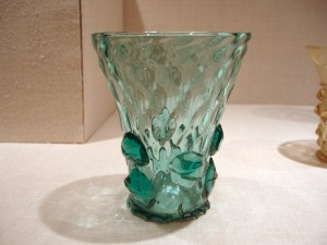 Glass beaker with applied decoration, German Lower Rhine valley, early 16th century