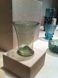 Glass beaker without decoration, German Lower Rhine valley, 1400's
