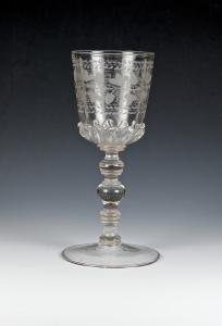 53E Bohemian Engraved Goblet 1700-1720