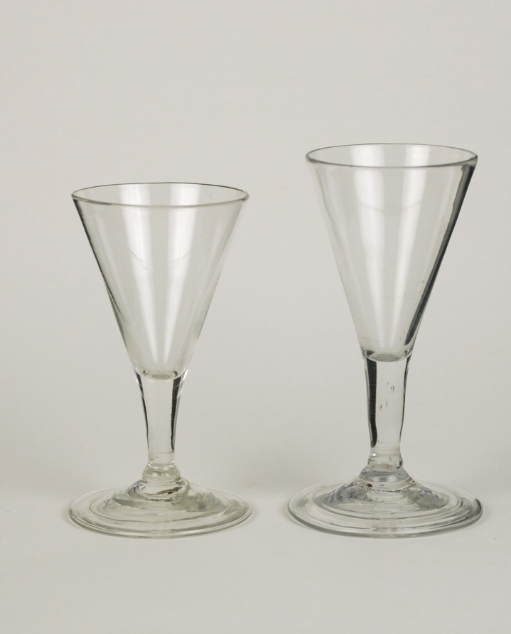 64E Pair of Early English Gin Glasses