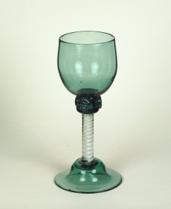 97E-B English green white twist Wine c.1765