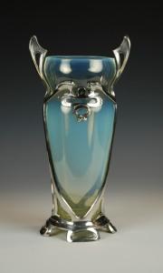 104E Art Nouveau Glass Vase1890s-1900s