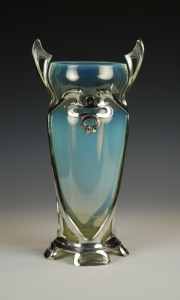 104E Art Nouveau glass vase 1890-1900