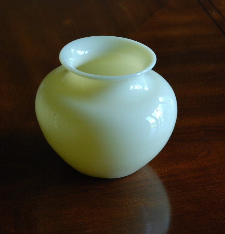 78A Steuben ivory jade colored glass vase