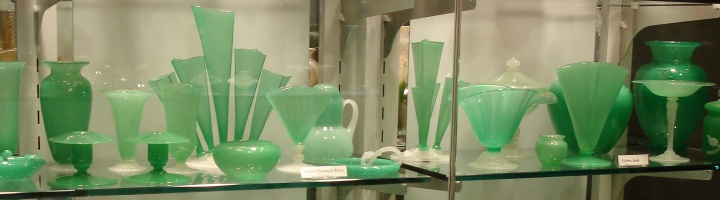 Steuben green jade glass
