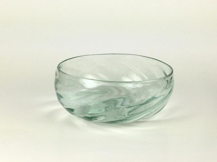 90A Aquamarine Swirled Bowl