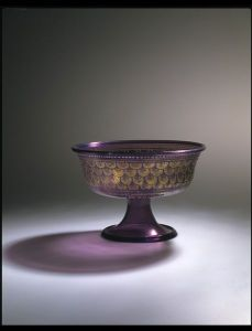 Footed glass bowl from Venice 1475-1525