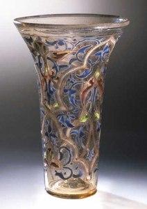 The Luck of Edenhall, glass beaker, Syria, 13thcentury