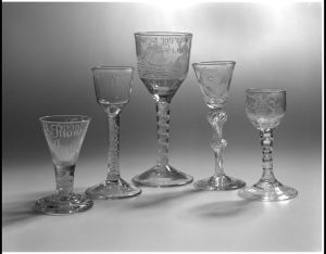 Wine glasses from England 1759