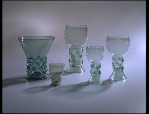 Wine glasses (Roemers), Germany or Netherlands, 1625-1699