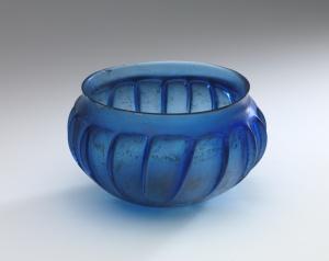 8H ROMAN BLUE RIBBED BOWL