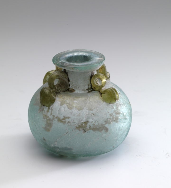 Roman Glass Aryballos with Four Handles
