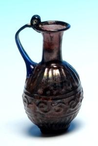 Roman juglet with cobalt blue handle