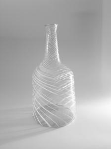Spanish Façon de Venise Glass Server Flask