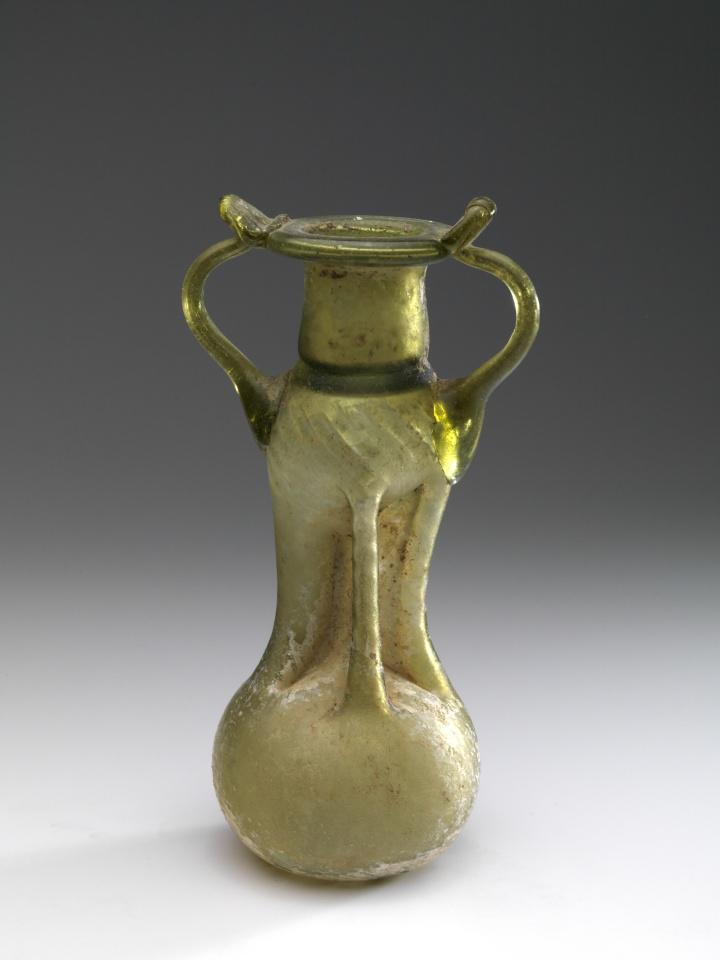 Roman Glass Guttrolf Sprinkler Bottle