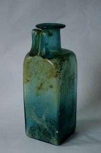 Large square Roman bottle