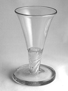 DUTCH 18TH CENTURY SHOT GLASS (OORLAM)