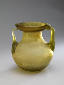 ROMAN YELLOW JAR WITH HANDLES