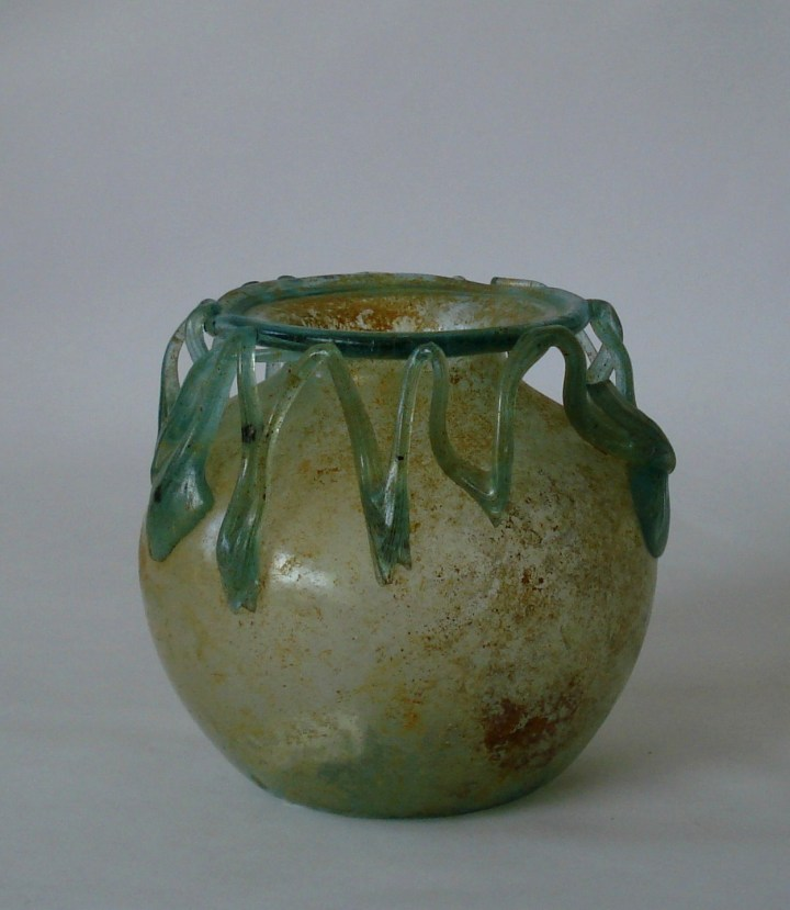 Roman Glass zig-zag Jar