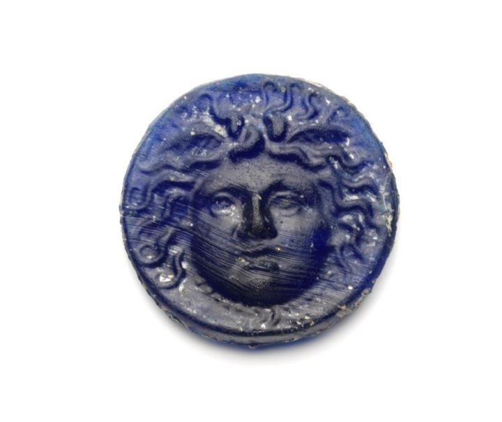 Medusa Roman Glass Medallion NFB 301